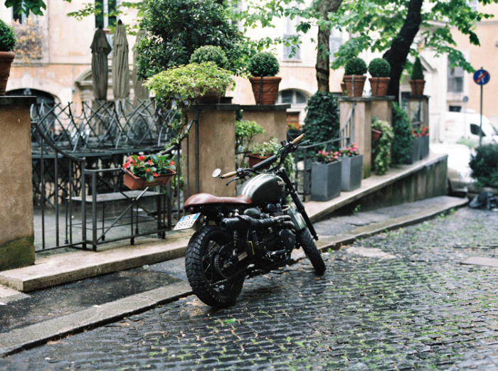 Motorcyle in Rome Italy