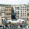 Overlooking the Busy Streets of Rome Italy