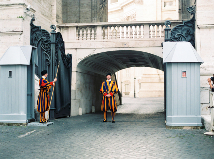 Standing Guards in Rome Italy