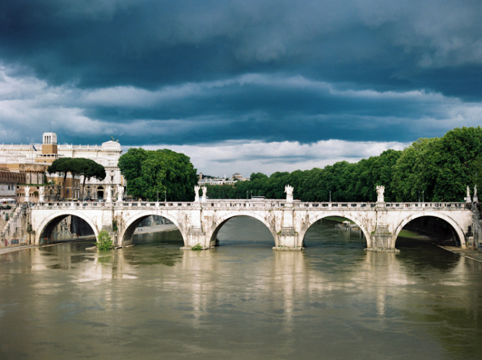 Thunder Clouds in Rome Italy