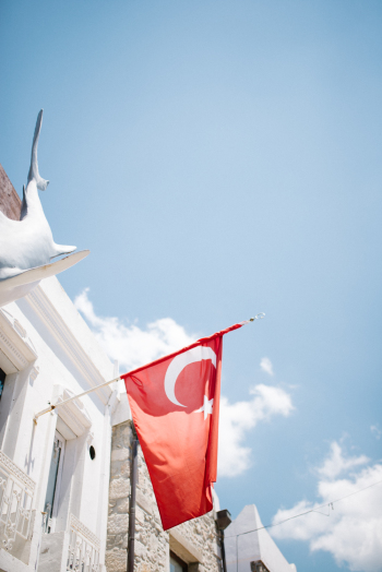 Turkish Flag in Bodrum Turkey