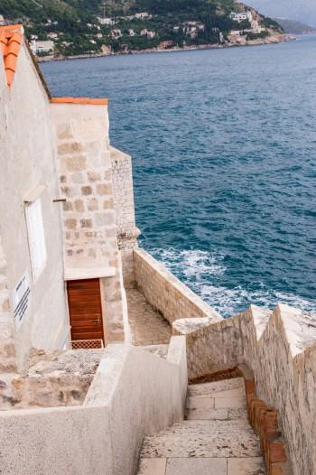Waterside Steps in Dubrovnik Croatia