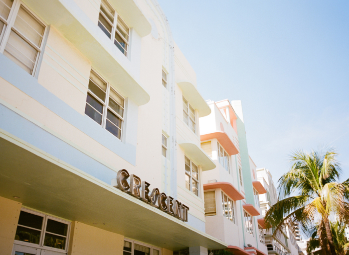 Architecture in Art Deco District Miami