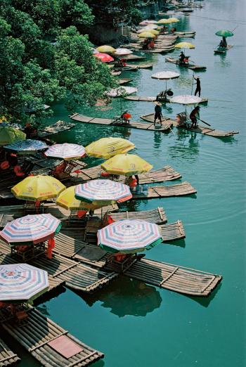 Bamboo Rafts in Yangshuo